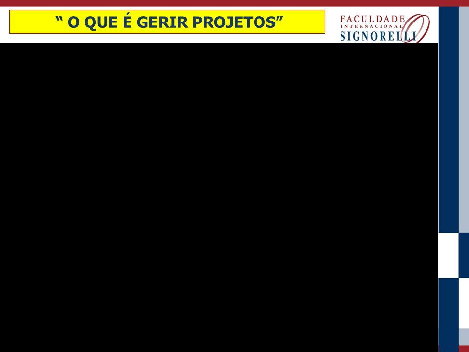 """"""" O QUE É GERIR PROJETOS"""""""