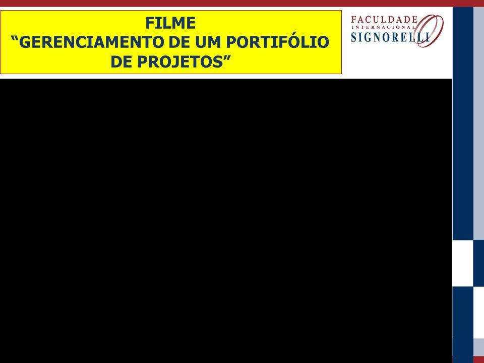 """FILME """"GERENCIAMENTO DE UM PORTIFÓLIO DE PROJETOS"""""""