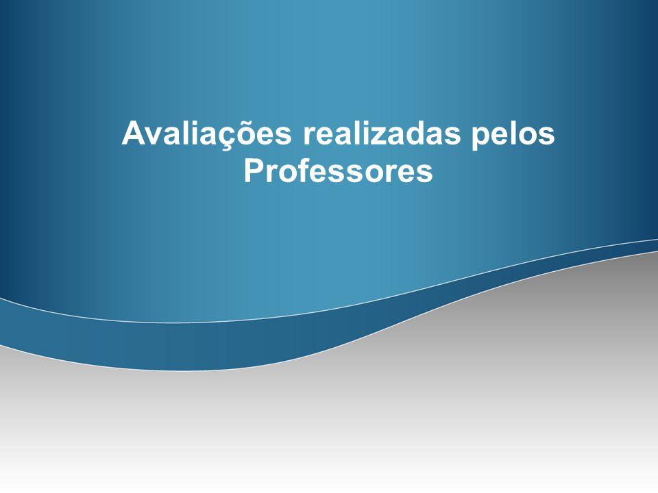Avaliações realizadas pelos Professores