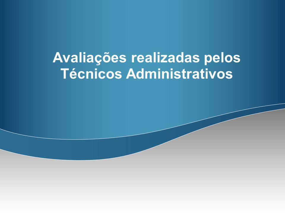 Avaliações realizadas pelos Técnicos Administrativos