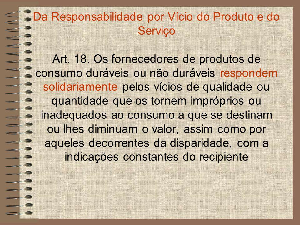 da embalagem, rotulagem ou mensagem publicitária, respeitadas as variações decorrentes de sua natureza, podendo o consumidor exigir a substituição das partes viciadas.