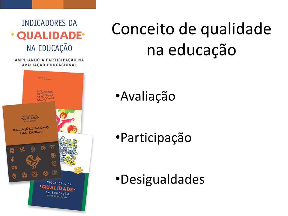 Conceito de qualidade na educação Avaliação Participação Desigualdades