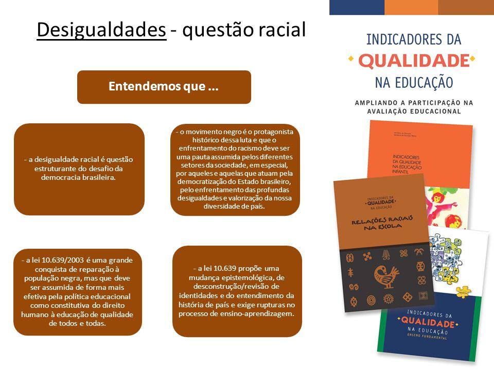 Desigualdades - questão racial - a desigualdade racial é questão estruturante do desafio da democracia brasileira.