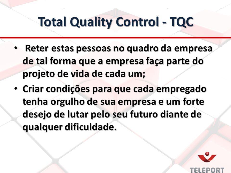 Total Quality Control - TQC Reter estas pessoas no quadro da empresa de tal forma que a empresa faça parte do projeto de vida de cada um; Reter estas