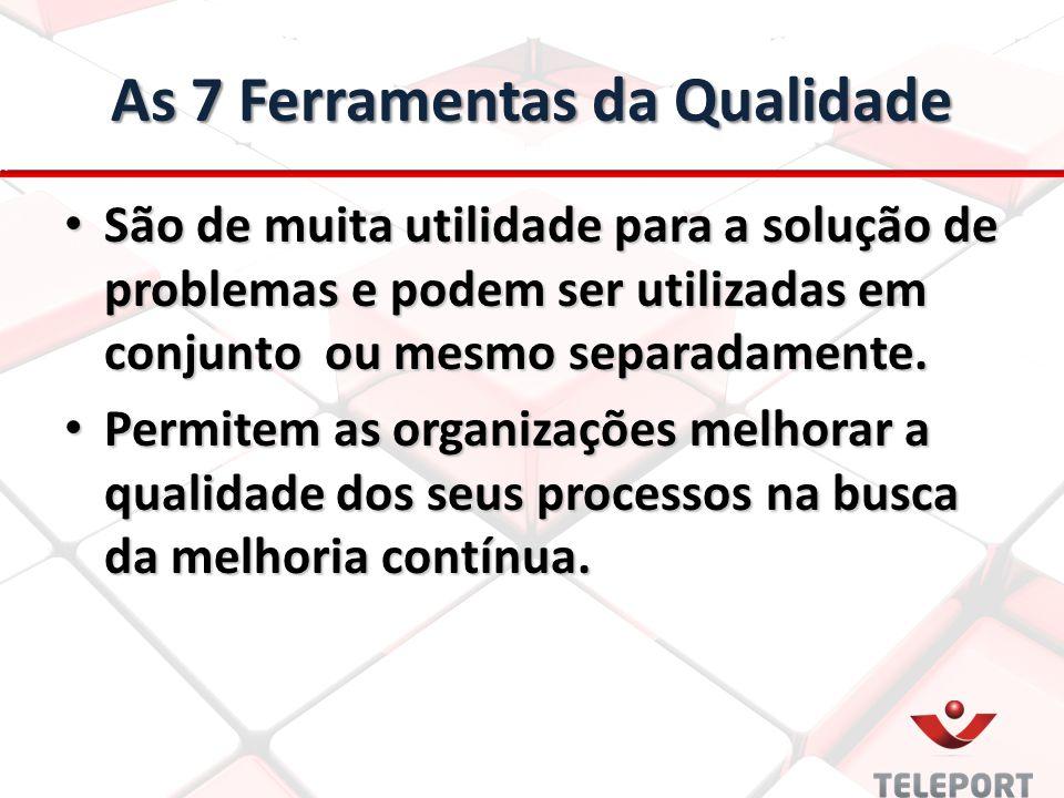 As 7 Ferramentas da Qualidade São de muita utilidade para a solução de problemas e podem ser utilizadas em conjunto ou mesmo separadamente. São de mui