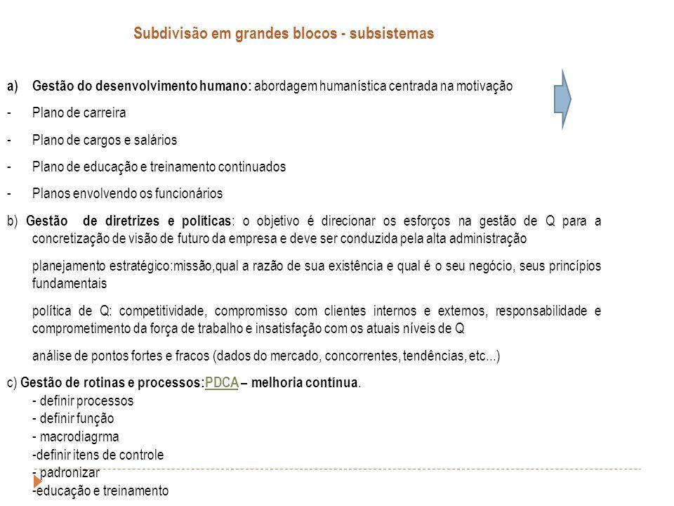 a)Gestão do desenvolvimento humano: abordagem humanística centrada na motivação -Plano de carreira -Plano de cargos e salários -Plano de educação e tr
