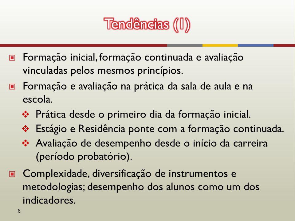 ▣ Formação inicial, formação continuada e avaliação vinculadas pelos mesmos princípios.