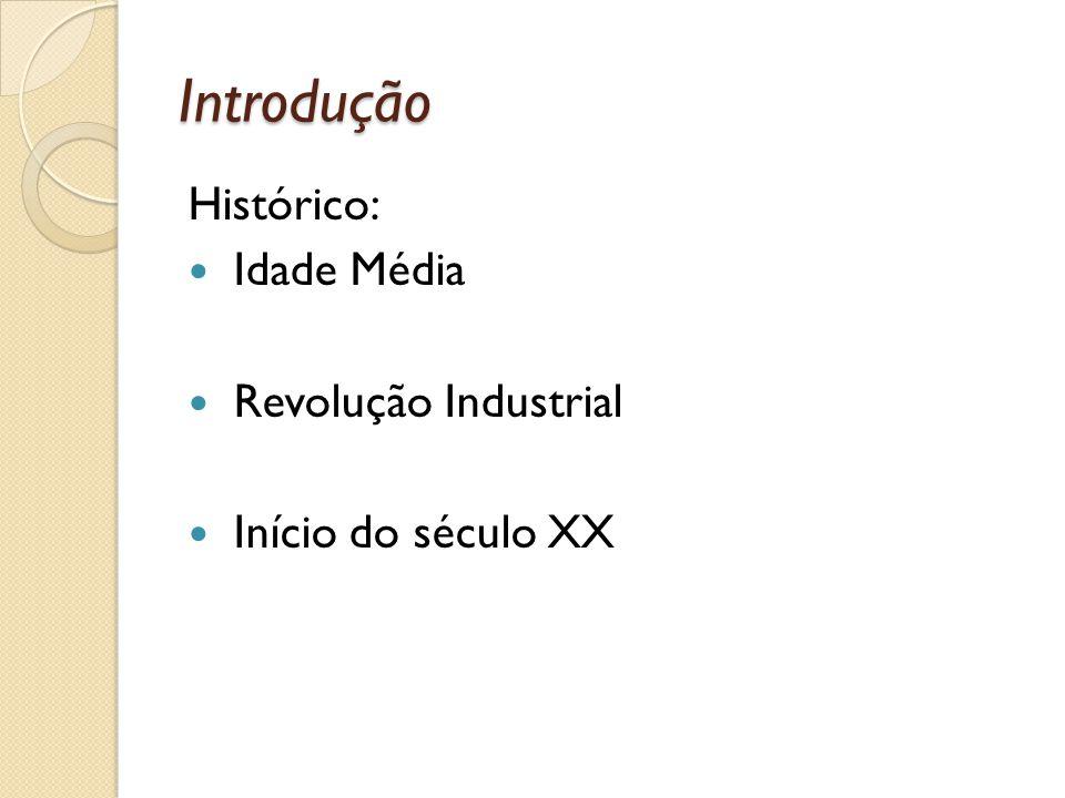 Introdução Histórico: Idade Média Revolução Industrial Início do século XX