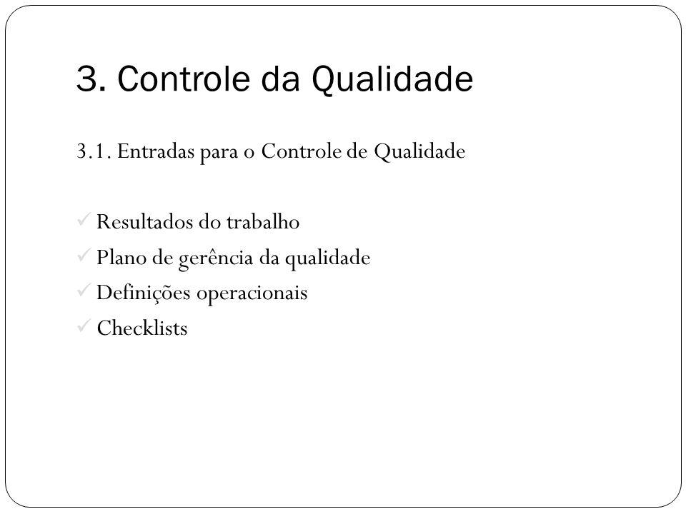 3.Controle da Qualidade 3.1.