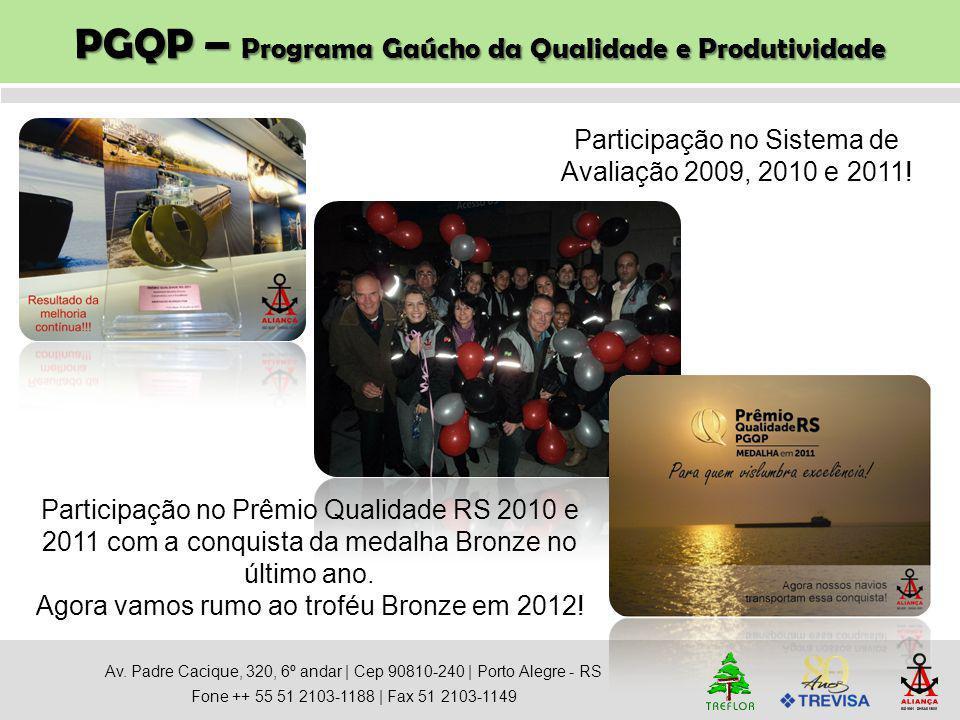 PGQP – Programa Gaúcho da Qualidade e Produtividade Av. Padre Cacique, 320, 6º andar   Cep 90810-240   Porto Alegre - RS Fone ++ 55 51 2103-1188   Fax