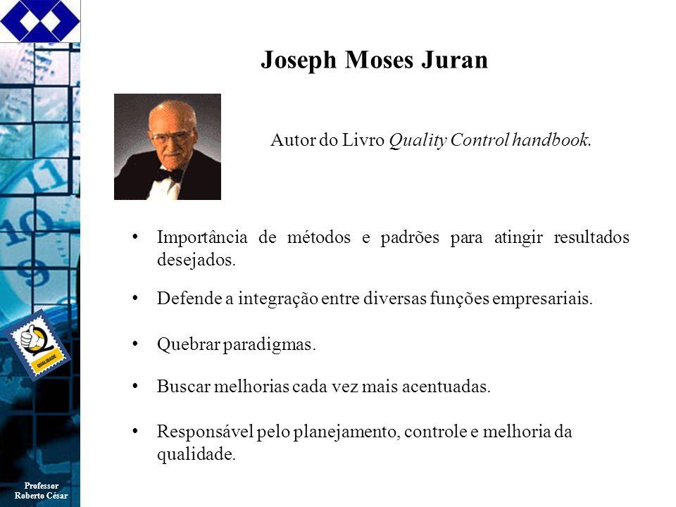 Professor Roberto César Joseph Moses Juran Importância de métodos e padrões para atingir resultados desejados.