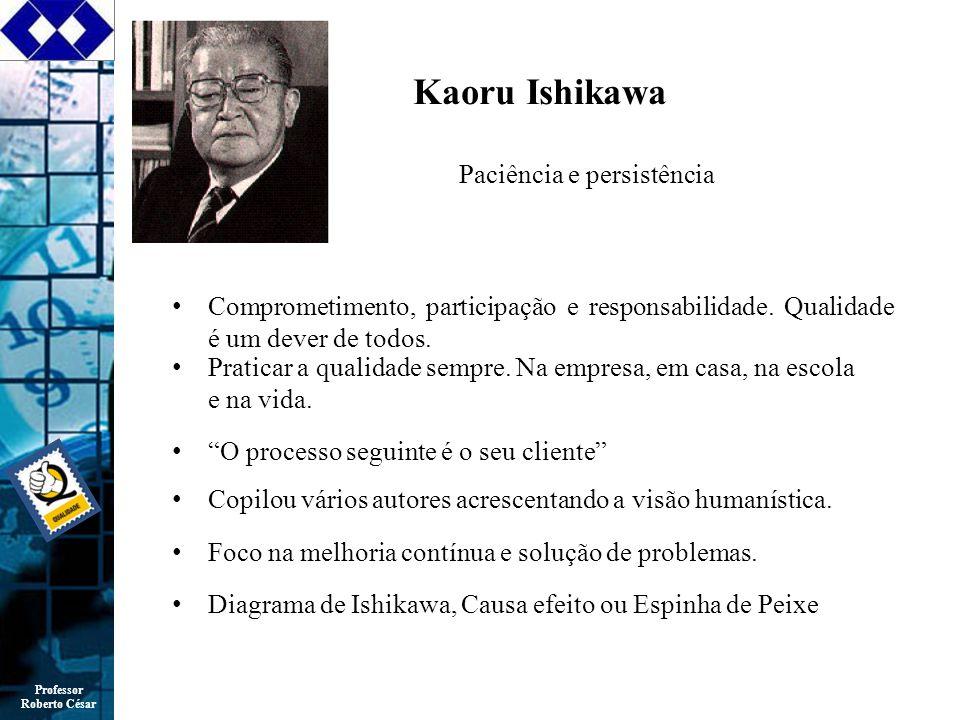 Professor Roberto César Kaoru Ishikawa Comprometimento, participação e responsabilidade.