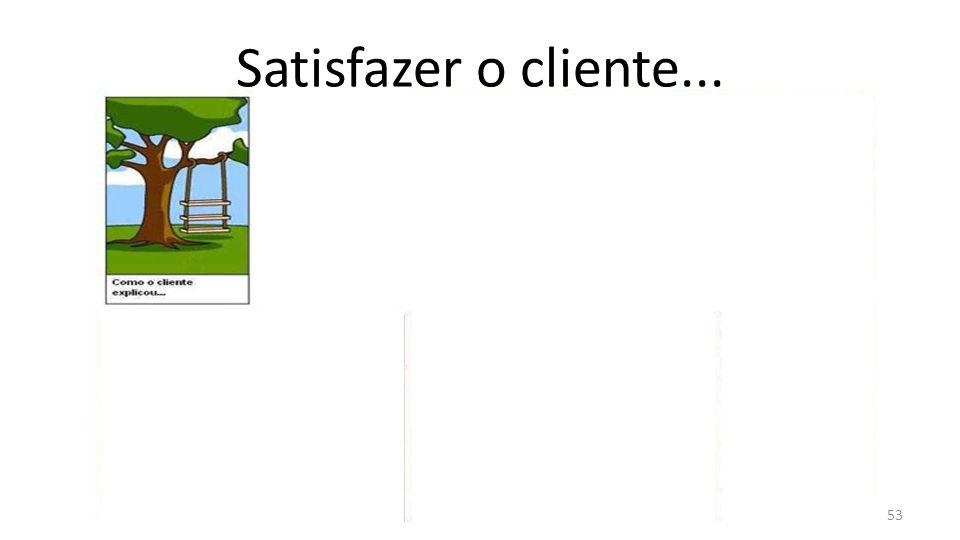 Satisfazer o cliente... 53