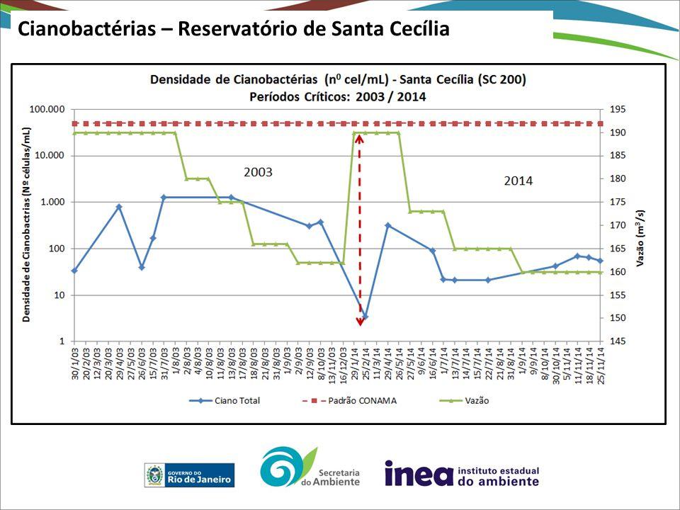 Cianobactérias – Reservatório de Santa Cecília