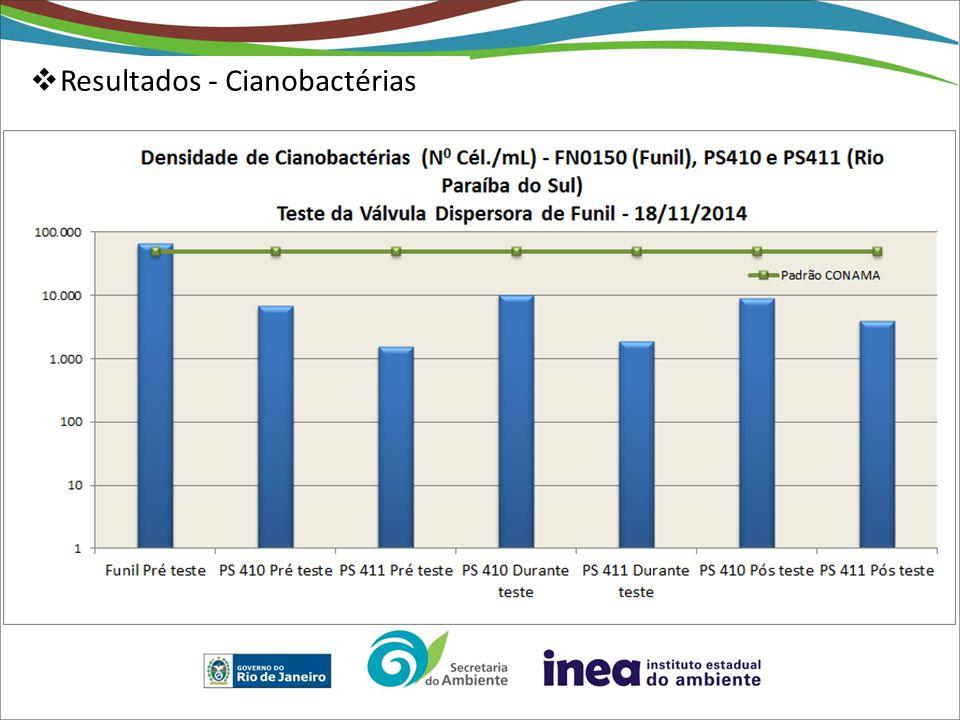  Resultados - Cianobactérias