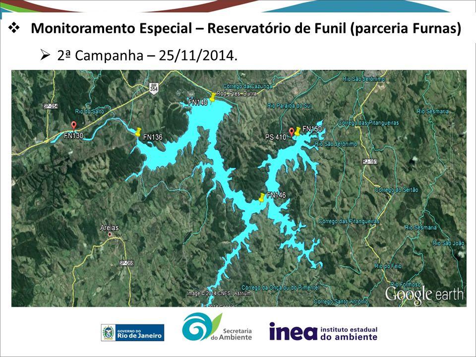  2ª Campanha – 25/11/2014.  Monitoramento Especial – Reservatório de Funil (parceria Furnas)