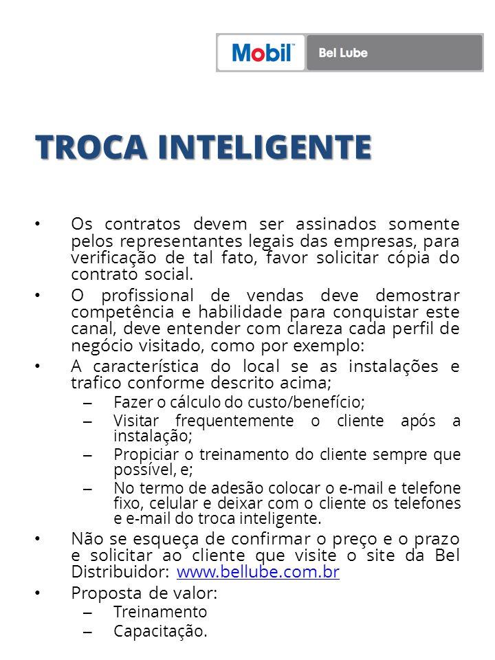 TROCA INTELIGENTE Os contratos devem ser assinados somente pelos representantes legais das empresas, para verificação de tal fato, favor solicitar cóp