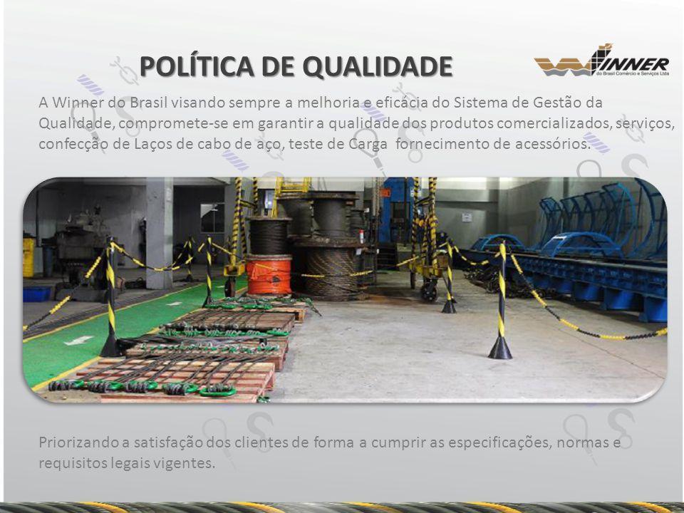 A Winner do Brasil visando sempre a melhoria e eficácia do Sistema de Gestão da Qualidade, compromete-se em garantir a qualidade dos produtos comercia