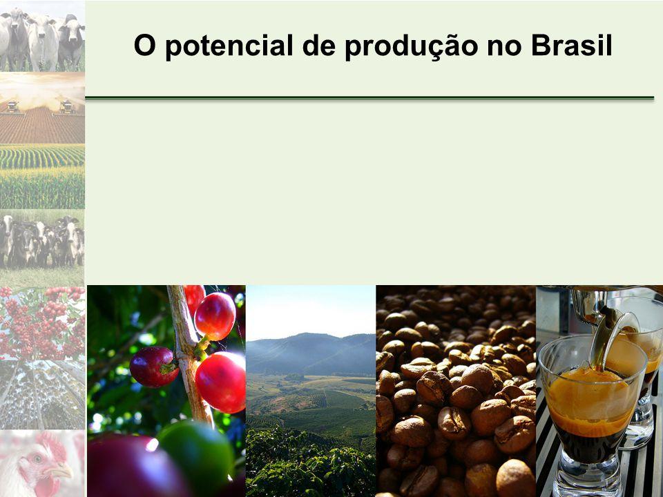 O potencial de produção no Brasil