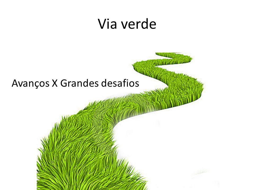 Via verde Avanços X Grandes desafios