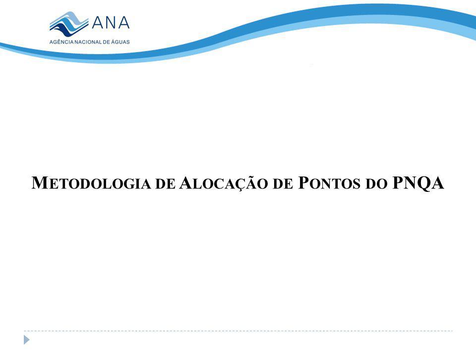 M ETODOLOGIA DE A LOCAÇÃO DE P ONTOS DO PNQA