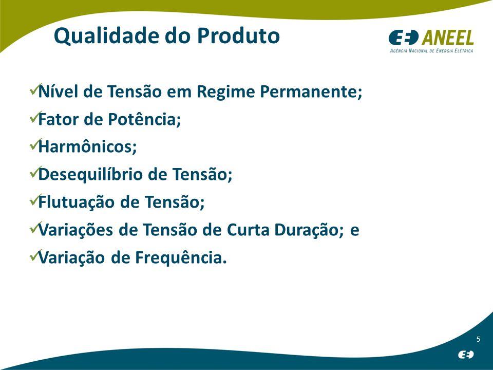 6 Tensão em Regime Permanente Medição Solicitada Inspeção técnica e Avaliação do nível de tensão por meio de indicadores.