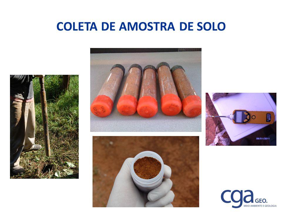 COLETA DE AMOSTRA DE SOLO