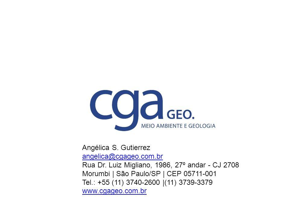 Angélica S. Gutierrez angelica@cgageo.com.br Rua Dr. Luiz Migliano, 1986, 27º andar - CJ 2708 Morumbi | São Paulo/SP | CEP 05711-001 Tel.: +55 (11) 37