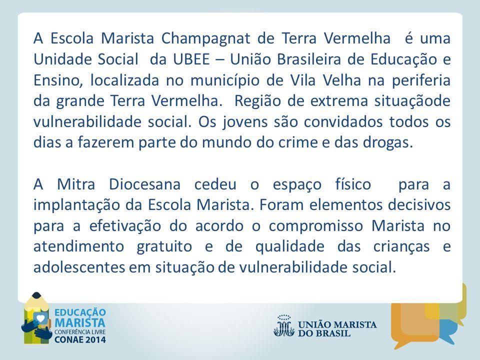 A Escola Marista Champagnat de Terra Vermelha é uma Unidade Social da UBEE – União Brasileira de Educação e Ensino, localizada no município de Vila Ve