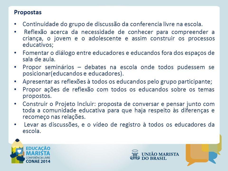 Assista o vídeo http://redesocialconae.mec.gov.br/index.php/30114-valeria- cristina-de-morais-palheiros-landim/videos/video/4692-mini- conae-escola-marista-champagnat-de-contagem-mg em http://redesocialconae.mec.gov.br/