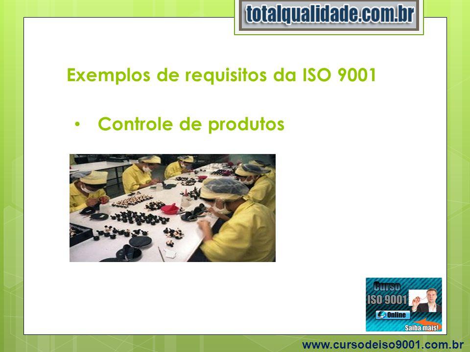 Exemplos de requisitos da ISO 9001 www.cursodeiso9001.com.br Treinamentos Internos