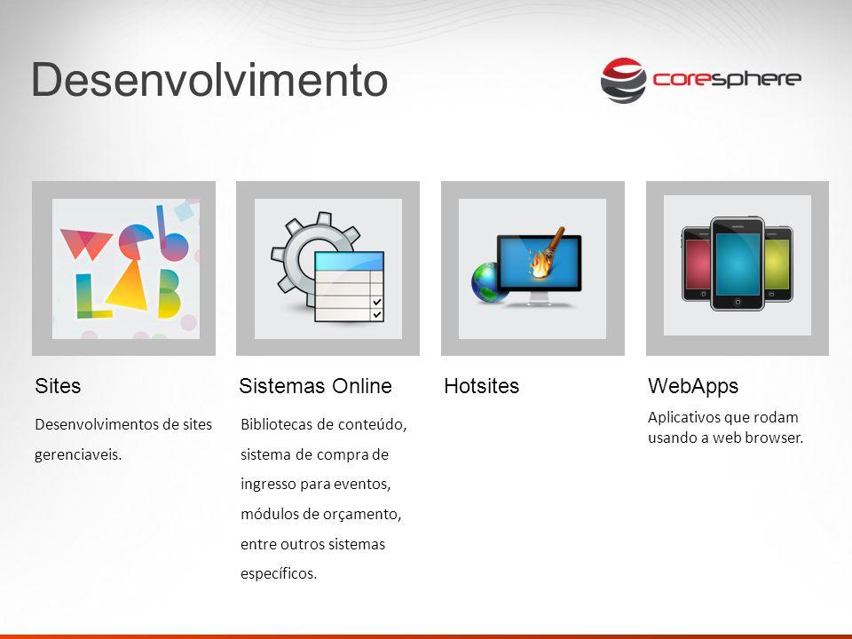 Desenvolvimento Sites Desenvolvimentos de sites gerenciaveis.