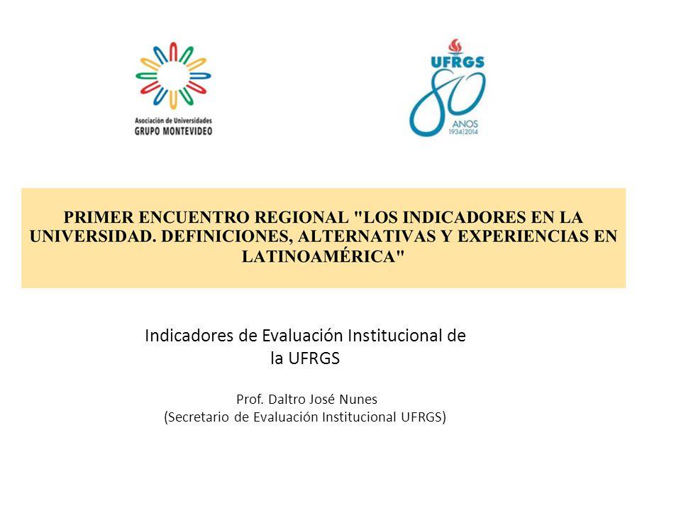 Indicadores de Evaluación Institucional de la UFRGS Prof.