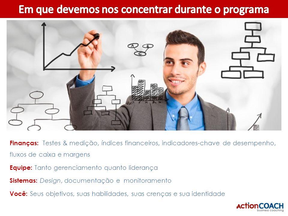 Planejamento: Planos de ação simples e diretos para um plano de negócio completo Vendas: Tanto conversão quanto média de venda $$ Marketing: Tanto a g