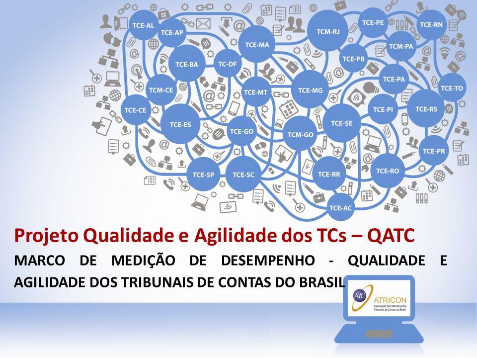 Projeto Qualidade e Agilidade dos TCs – QATC MARCO DE MEDIÇÃO DE DESEMPENHO - QUALIDADE E AGILIDADE DOS TRIBUNAIS DE CONTAS DO BRASIL