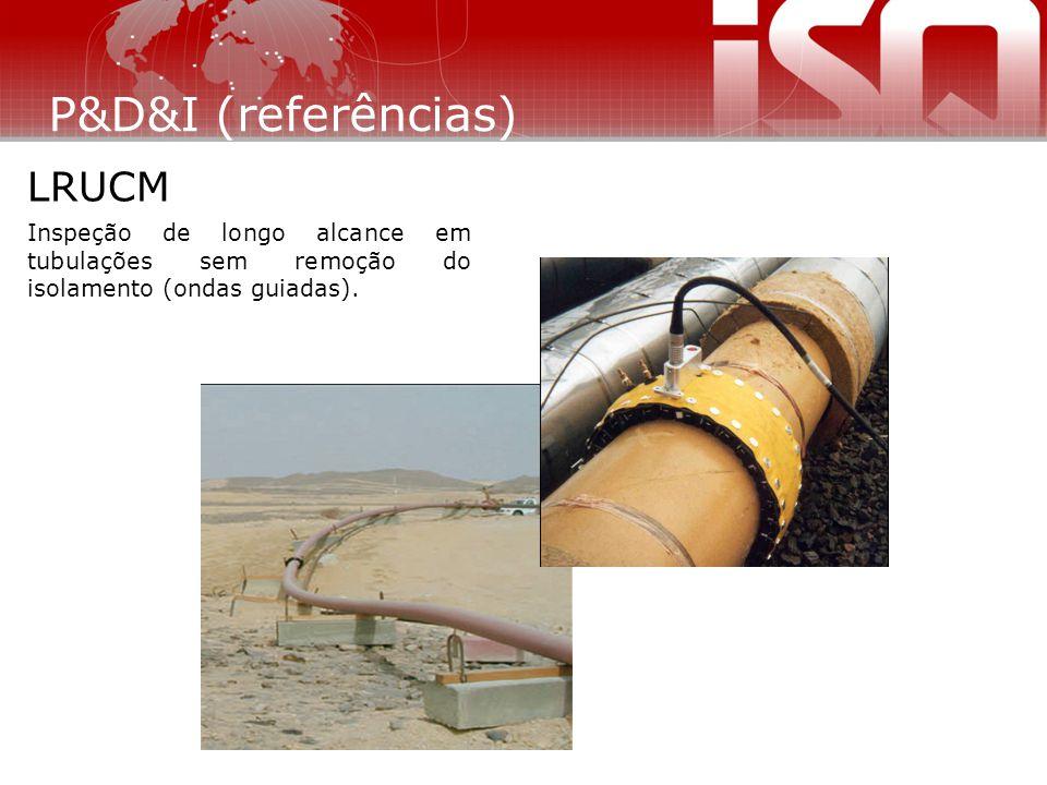 Inspeção de longo alcance em tubulações sem remoção do isolamento (ondas guiadas). LRUCM P&D&I (referências)