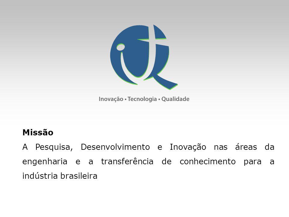 Missão A Pesquisa, Desenvolvimento e Inovação nas áreas da engenharia e a transferência de conhecimento para a indústria brasileira