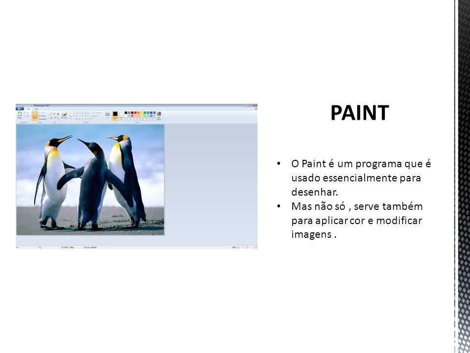 O Paint é um programa que é usado essencialmente para desenhar.