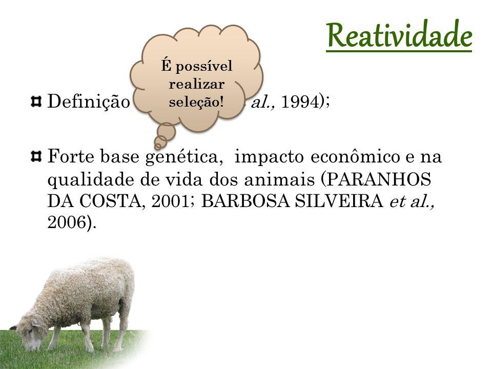 Definição (WILSON et al., 1994); Forte base genética, impacto econômico e na qualidade de vida dos animais (PARANHOS DA COSTA, 2001; BARBOSA SILVEIRA et al., 2006 ).