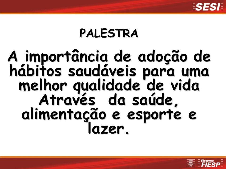 I - PALESTRA MÉDICA SOBRE AS DOENÇAS E SUA PREVENÇÃO II - VERIFICAÇÃO DE PRESSÃO ARTERIAL, PESO CORPORAL E ESTATURA ESTATURA III - COLETA DE SANGUE PARA EXAMES EM CASO DE ALTERAÇÕES IV - ORIENTAÇÃO MÉDICA INDIVIDUAL AOS ALTERADOS OBJETIVO: CUIDAR DA SAÚDE DO TRABALHADOR Programa Saúde na Empresa