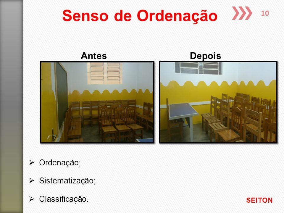 10 AntesDepois Senso de Ordenação SEITON  Ordenação;  Sistematização;  Classificação.