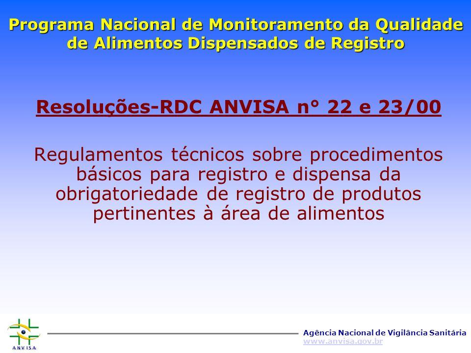 Agência Nacional de Vigilância Sanitária www.anvisa.gov.br CONTROLE DE ALIMENTOS NO BRASIL - POLÍTICA DE INSPEÇÃO – VISA's Estaduais - CRITÉRIO UTILIZ