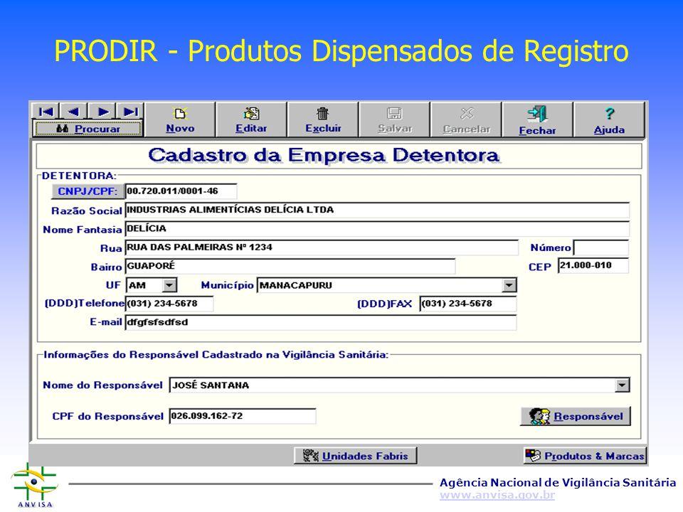 Agência Nacional de Vigilância Sanitária www.anvisa.gov.br Programa Nacional de Monitoramento da Qualidade de Alimentos Dispensados de Registro EMPRES