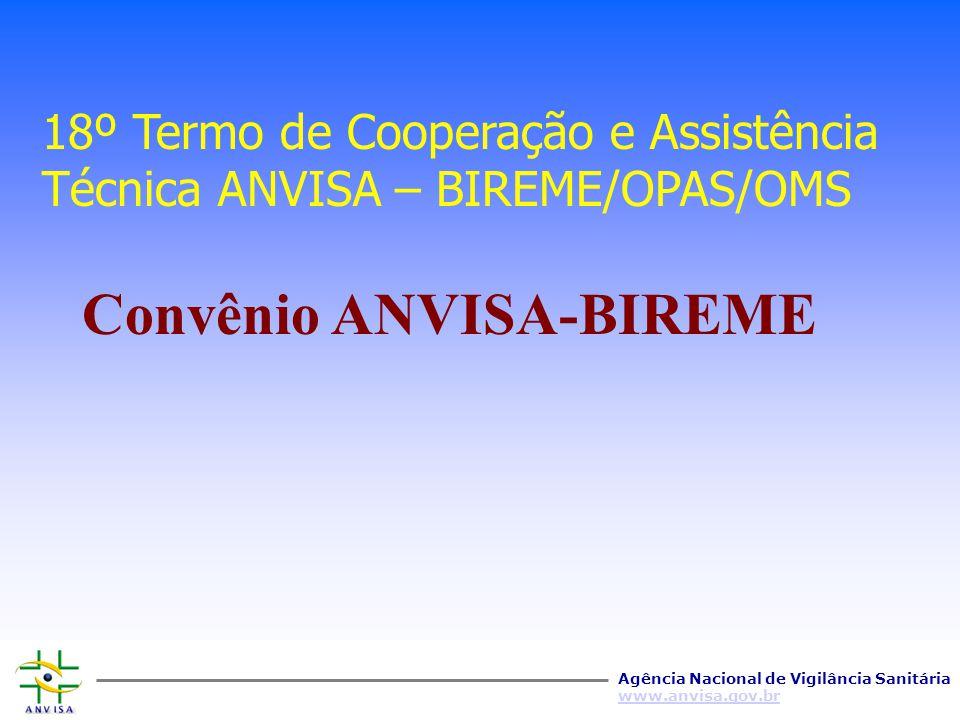 Agência Nacional de Vigilância Sanitária www.anvisa.gov.br Perspectivas Futuras Sistematização e Gerenciamento da Informação; Maior Interação com os s
