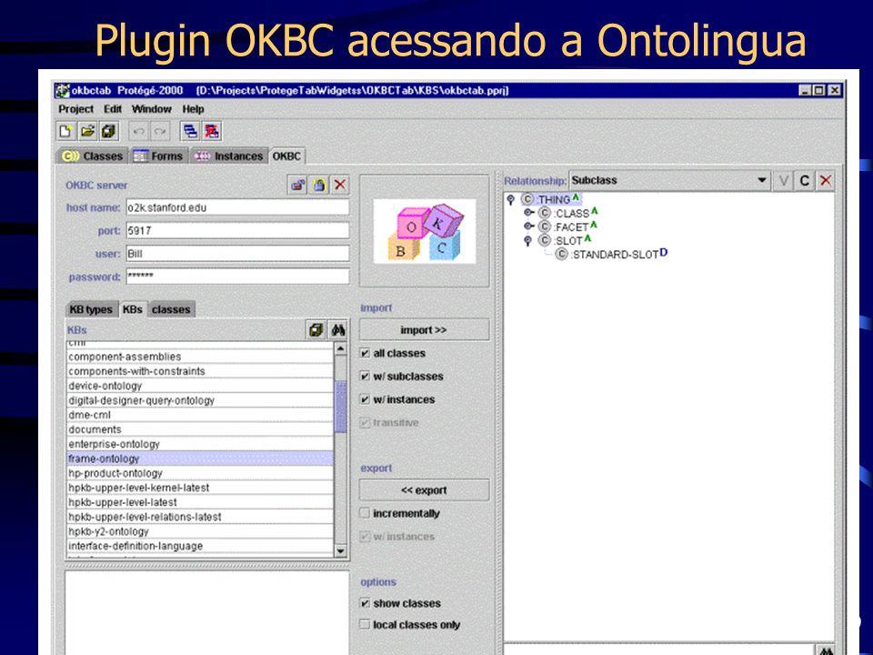 Prof. Fred Freitas - fred@cin.ufpe.br 59 Plugin OKBC acessando a Ontolingua