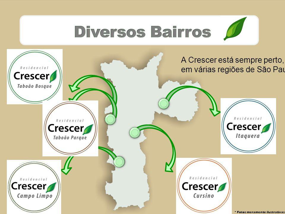 * Fotos meramente ilustrativas A Crescer está sempre perto, em várias regiões de São Paulo