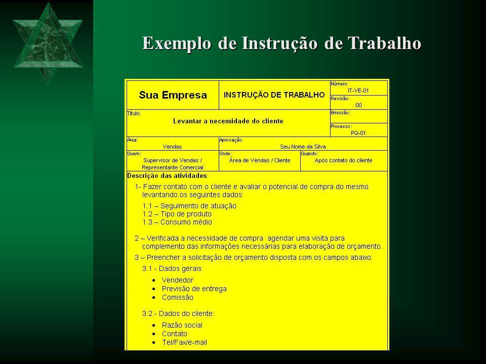 Exemplo de Plano de Qualidade de Processo