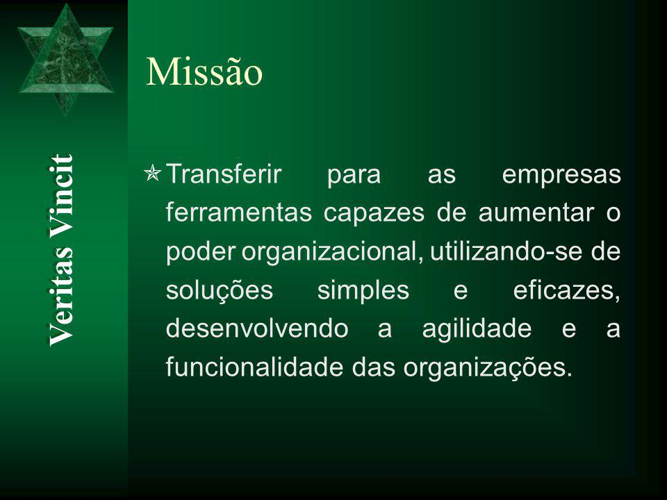 Missão  Transferir para as empresas ferramentas capazes de aumentar o poder organizacional, utilizando-se de soluções simples e eficazes, desenvolvendo a agilidade e a funcionalidade das organizações.