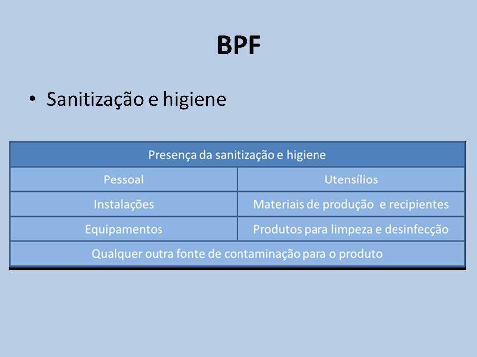 Sanitização e higiene BPF