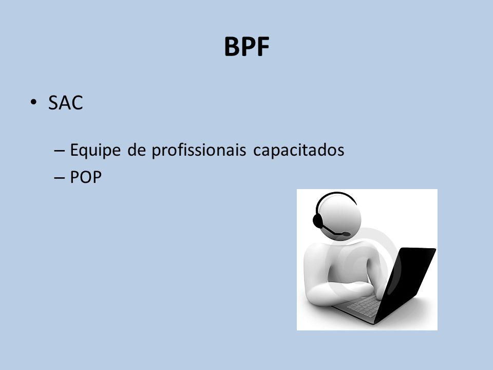 SAC – Equipe de profissionais capacitados – POP BPF